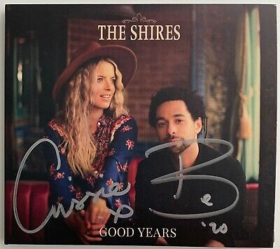 The Shires Good Years Cd Album Hand Signed Autographed In Silver To Front Cover