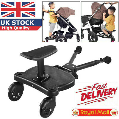 Buggy Board Seat Kids Stand Board Stroller Pram Pushchair Connector UK STOCK