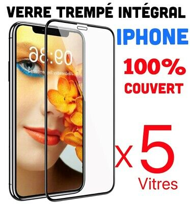 Verre Trempe Iphone Vitre Protection Ecran Integral 11 Pro Max Se 2020 7 8  X Xr