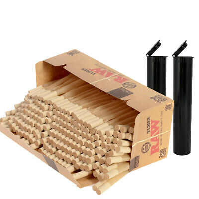 2x Box RAW Classic   Tube KING SIZE 400 Tubes Total Natural (not cones)