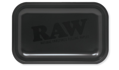 RAW Rolling Papers SILVER METALLIC Tray 11x7 NEW 2019 Edition - RAWthentic!