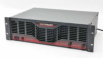 Crown CE1000 CE1000A 2-Channel Stereo Power Amplifier Amp 450WPC 4-Ohms