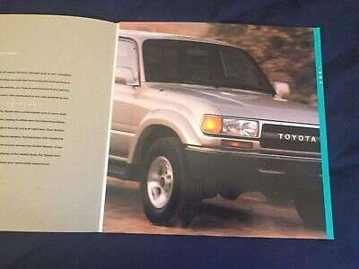 1994 Toyota Land Cruiser Color Brochure Catalog Prospekt