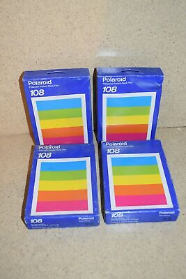 Polaroid 108 Polacolor Instant Pack Film - Lot Of 4 (A1)