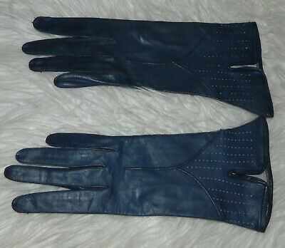 VINTAGE Couture 1950s Original Rockabilly Retro Chic Leather Gloves