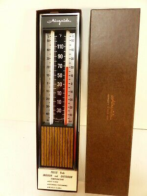 new/old stock vintage AIRGUIDE indoor/outdoor Thermometer in Box w instructions.