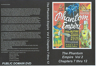 The Phantom Empire, Vol. 2 Chapters 7 - 12, DVD, Gene Autry, YOU CHOOSE SHIPPING
