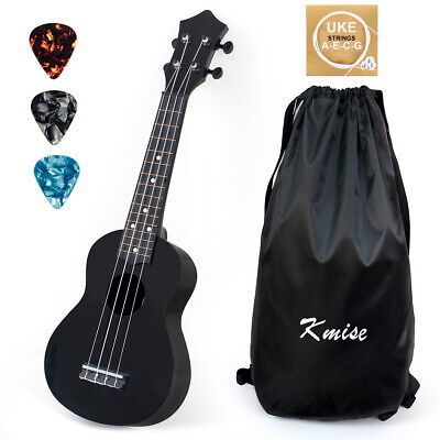 Soprano Ukulele 21 Inch Ukelele Guitar with Gig Bag Picks String