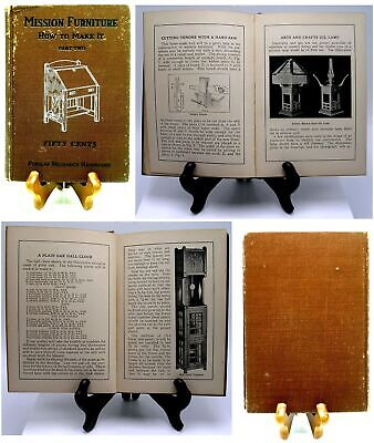 MISSION FURNITURE ~ HOW TO MAKE IT ~ Part TWO ~ 1910 POPULAR MECHANICS BOOK