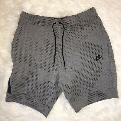 Size 3XL Nike Tech Fleece All Over Print Tapered Shorts 832124-091