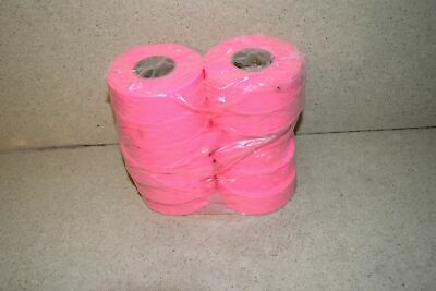 ^^ Flagging Survey Tape Pink Glo 12 Rolls New - (Ab37)