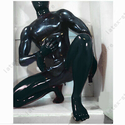 Latex Catsuits Full Body with Hoods Toe Socks Arm D-Rings Fetish Customize 0.4mm