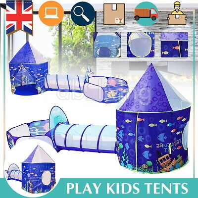 Kids Tunnel Tents Pop Up Child Kids Baby Tent Balls Playhouse Portable Indoor