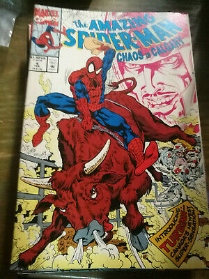 Amazing Spider-Man VF//NM Chaos in Calgary #4 1992 Marvel Spiderman Comic Book