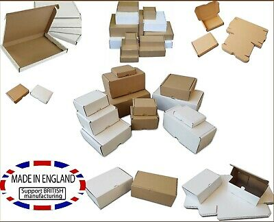 White Postal PIP Boxes Mail Shipping Cartons For Postage Multi Listing Packing