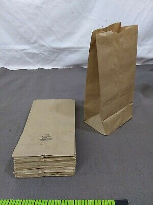 "45 lunch Grocery Bags 5 Lb brown paper Kraft 5"" X 3.5"" X 10.5"""