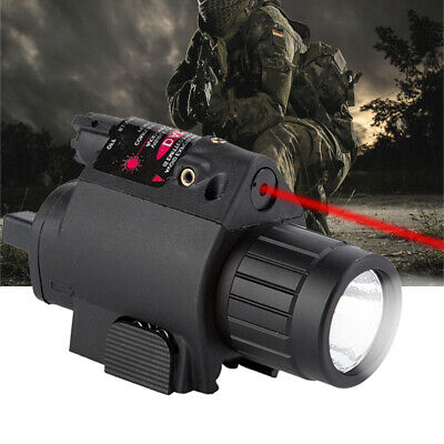 Mini Tactical Combo Flashlight Red Dot Laser Sight For 20mm Picatinny Rail Mount