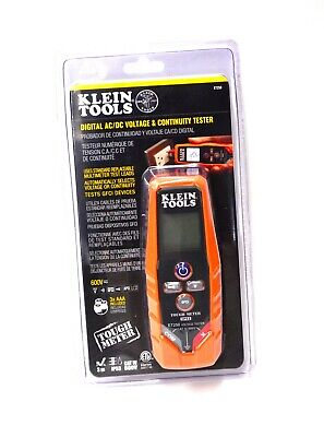 Klein Tools Digital AC/DC and Continuity Tester ET250 * NEW * FREE SHIPPING *