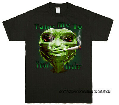 Take Me To Your Dealer Allien Graphic T-shirt Tank Top 3/4 Sleeve Raglan