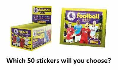 Panini Football 2020 Premier League Stickers - Choose 50 from list of over 550