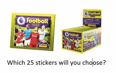 Panini Football 2020 Premier League Stickers - Choose 25 from a list of over 330