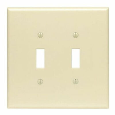Leviton 001-86109 Double Gang Ivory Double Toggle Wallplate, Case of 25