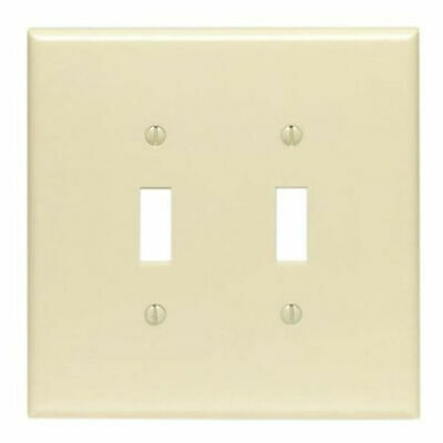 Leviton 001-86109 Double Gang Ivory Double Toggle Wallplate, Case of 50