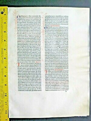 Extremely rare incunabula,Breviary leaf on vellum,handpt.initials,Jenson,1478#7N