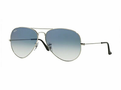 RayBan Aviator Gradient Sunglasses Silver Light Blue Gradient 3025 003/3F 58-14