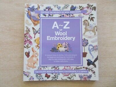 A-Z of Wool Embroidery~Country Bumpkin~Step-By-Step Stitches~128pp Spiral P/B