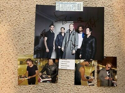 Queens of the Stone Age Band Autographed Picture & Concert Ticket W/ Josh Homme