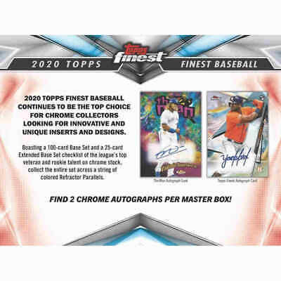 2020 Topps Finest Baseball FACTORY SEALED HOBBY BOX...  2 AUTO A BOX Presell 6/3