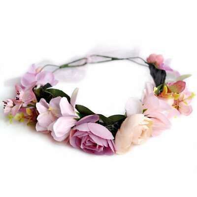 Boho Flower Crown Headband Floral Hair Garland Headpiece Wreath Handmade EBHS13
