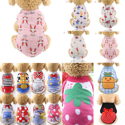 Spring Summer Puppy Dog Cat Clothes Pet Clothing Outfit Supplies Costume Hot