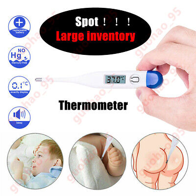 Digital LCD Thermometer Medical Baby Adults Body Safe Ear Mouth Temperature Hot