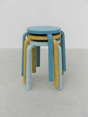 1960s VINTAGE ORIGINAL ALVAR AALTO MODEL 60 FOUR LEGGED PLY STOOL ARTEK FINLAND