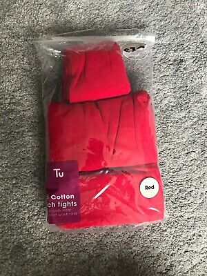 NEW 5 Pairs Girls Red School Tights 7-8 Yrs BNIP Girls Clothing School Uniform