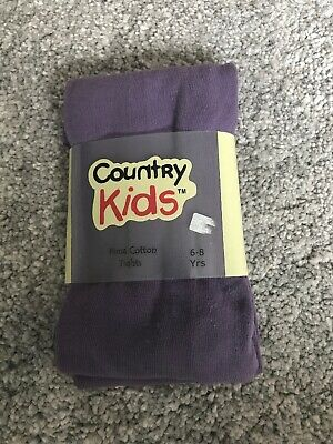 NEW Country Kids 1 Pair Girls Tights 6-7-8 Yrs BNIP Girls Clothing Party