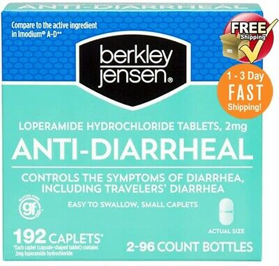 Anti-Diarrheal -2 mg - 192 Caplets by Berkley Jensen