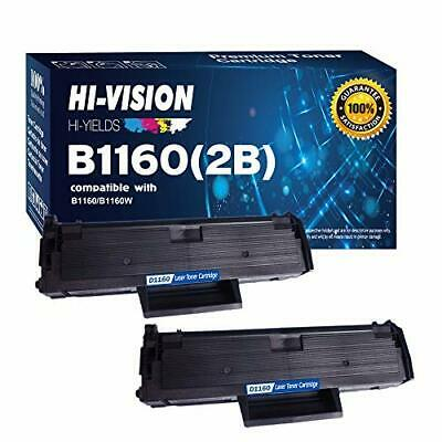 HIVISION HIYIELDS compatible B1160 1160 3317335 YK1PM, HF442 2 Pack Black Ton...