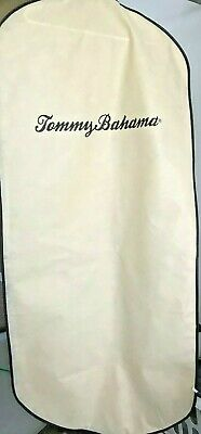 """Tommy Bahama Zippered Non Woven Garment Bag Great 4 Storage 23""""X52"""" Back Pocket"""