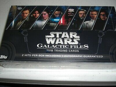2018 STAR WARS Galactic Files  Hobby Box with 2 Hit with 1 Auto by Topps