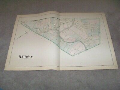 1882 Map Part of Rahway 4 New Jersey J E Robinson & R H Pidgeon A H Mueller
