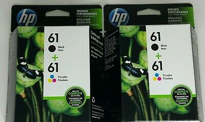 (2) HP 61 Ink Cartridge Combo Black Color NEW Genuine Date: 2021 Same Day Ship*