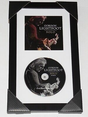 Gordon Lightfoot Autographed Solo Cd Cover (Framed & Matted) - W/ Coa!