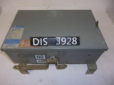 WESTINGHOUSE DISCONNECT SWITCH 240 Volt 60 Amp FUSED (DIS3928)
