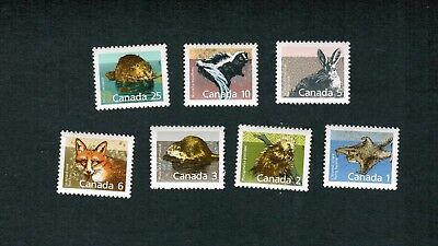 1988  TIMBRES CANADA STAMPS  # 1155 to 1161  (7) MAMMAL DEFINITIVES  coll3