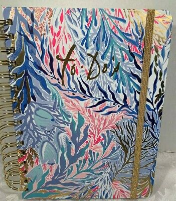 Lilly Pulitzer To Do Coiled Planner Kaleidoscope Coral Pattern  Retail $28.00