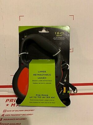 Hyper Pet Retractable Dog Leash Large Dogs Red / Black Long 16 Feet 5 Meters