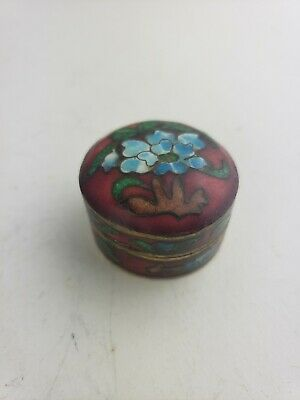 Excellent antique chinese cloisonne box, very small and intricate